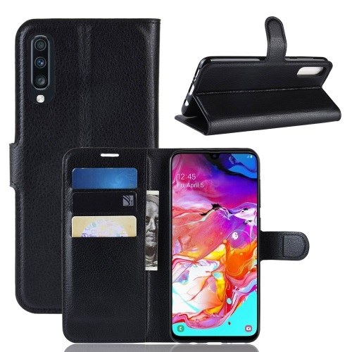Samsung Galaxy A70 PU Leather Case Black