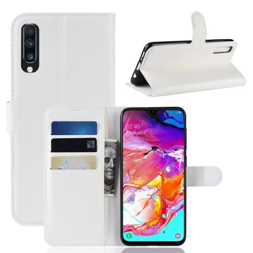 Samsung Galaxy A70 PU Leather Case White
