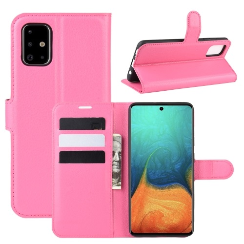 Samsung Galaxy A71 PU Leather Case Pink