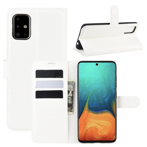 Samsung Galaxy A71 PU Leather Case White