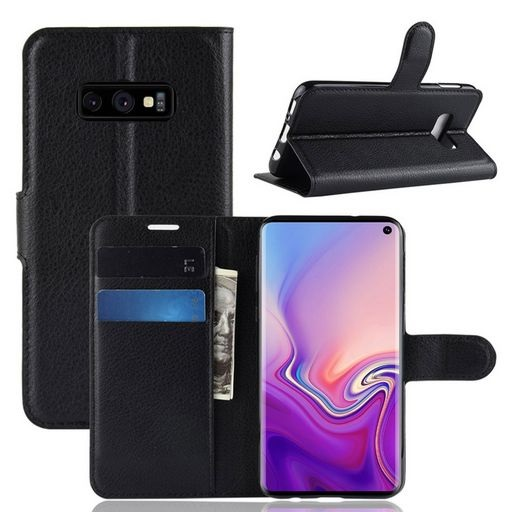 PU Leather Case For Galaxy S10e Black
