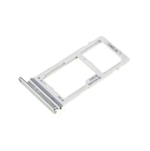 SIM Card Tray With Micro SD Card Tray for Galaxy S10 Plus / S10 / S10e Silver