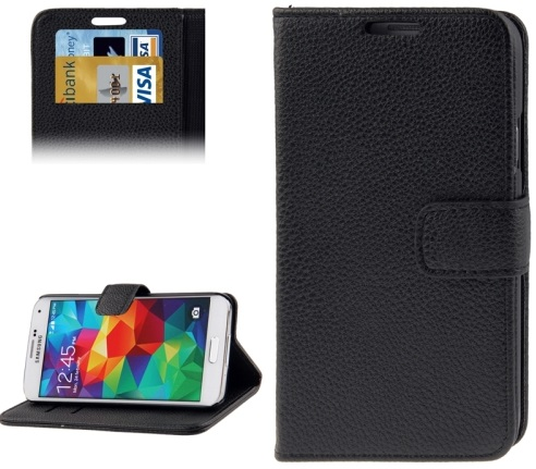 Samsung Galaxy S5 PU Leather Case Black