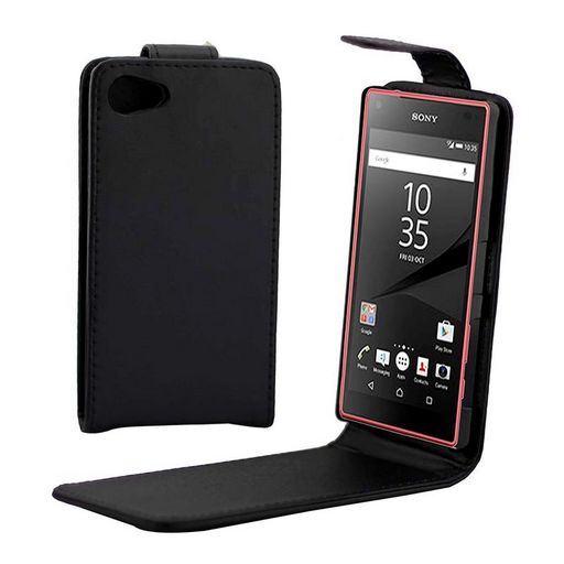Sony Xperia Z5 Compact PU Leather Case Black