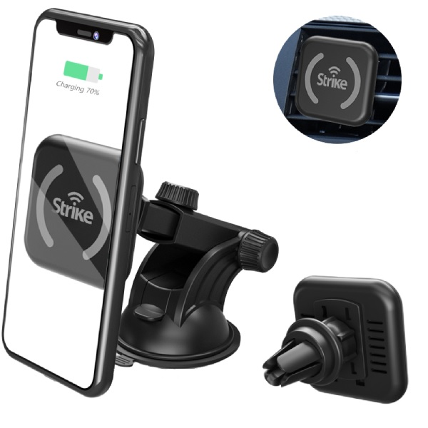 Strike Snap Wireless Charging Magnetic Car Phone Holder DIY